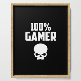 gamer logo and quote Serving Tray