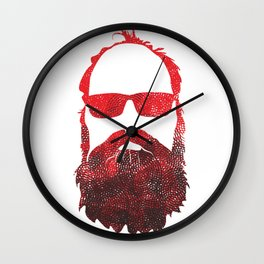 RED BEARD Wall Clock