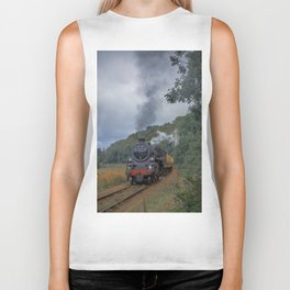 Steam Trains Biker Tank