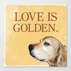 Love is Golden Canvas Print