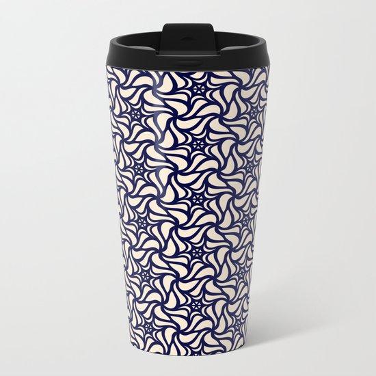Pattern flower 4 Metal Travel Mug