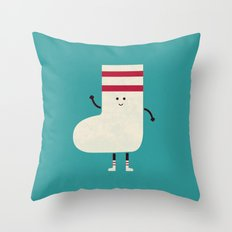 A Sock With Socks Throw Pillow