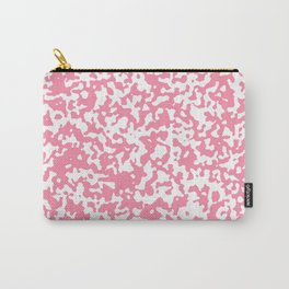 Small Spots - White and Flamingo Pink Carry-All Pouch