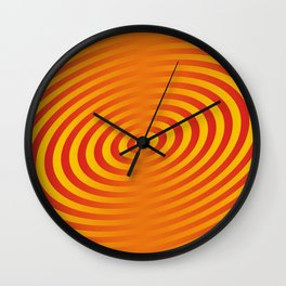 circle line orange hole Hypnotism Wall Clock