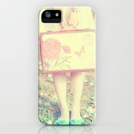 Travel Vintage Girl  iPhone Case