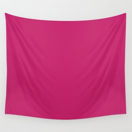 Pink Peacock Pantone fashion pure color trend Spring/Summer 2019 Wall Tapestry