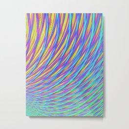Rainbow Weave Metal Print