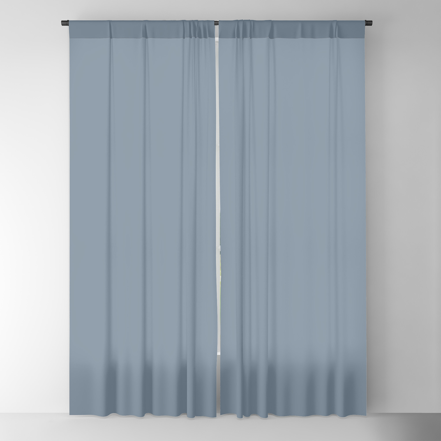 Slate Grey Plain Color Blackout Curtain