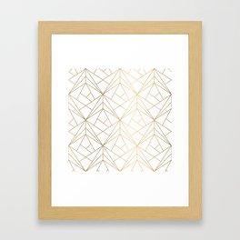 Polygonal Pattern Framed Art Print