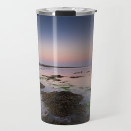Dog chasing fish in Barna, Ireland Travel Mug