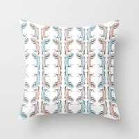 lizard Throw Pillows featuring Lizard by Iratxe González