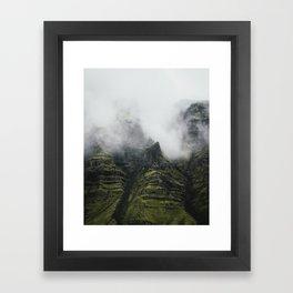Mountain Fog Framed Art Print