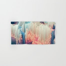 Fairyland - Abstract Glitchy Pixel Art Hand & Bath Towel
