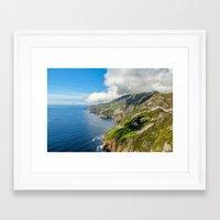 league Framed Art Prints featuring Slieve League  by DGPhoto