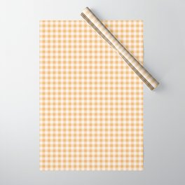Honey Gingham Wrapping Paper