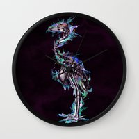 archan nair Wall Clocks featuring Fade Fader Fadest by Archan Nair