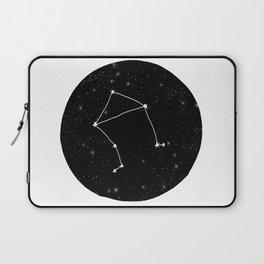 Libra minimal constellation star sign zodiac art print Laptop Sleeve