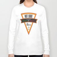 pasta Long Sleeve T-shirts featuring Hot Sobe Gourmet Pizza & Pasta by vibrains