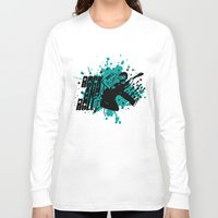 rock and roll Long Sleeve T-shirts featuring Rock & Roll by Chamber Decals