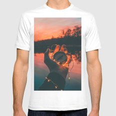 Adventure Compass LARGE White Mens Fitted Tee