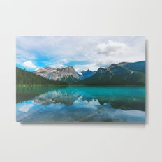 The Mountains and Blue Water Metal Print