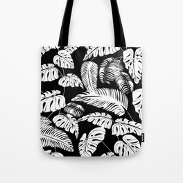 Tropical leaves pattern Tote Bag