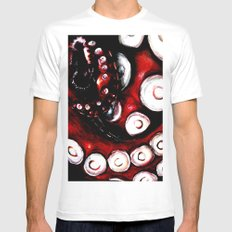 Tentacles MEDIUM Mens Fitted Tee White