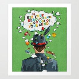 Use Your Head Art Print