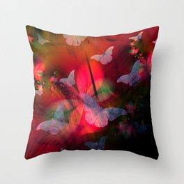 Butterflies at Dusk Throw Pillow