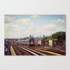 NYC Subway Train, No. 7 Canvas Print