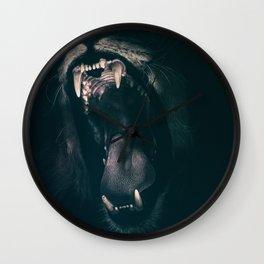 Lions roar Wall Clock