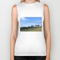 golf Biker Tanks featuring Golf by Rebecca Bear