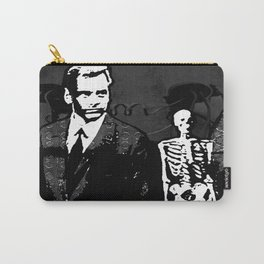 Dr. Hughes And The Skeleton In His Classroom Carry-All Pouch