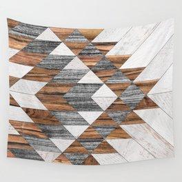 Urban Tribal Pattern No.12 - Aztec - Wood Wall Tapestry