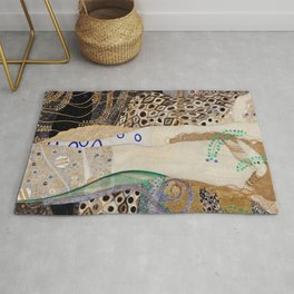 Gustav Klimt - Friends .Water Serpents Rug