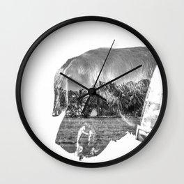 Dog photography Wall Clock