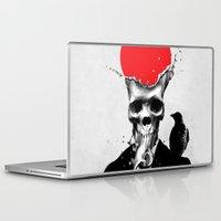 splash Laptop & iPad Skins featuring SPLASH SKULL by Ali GULEC