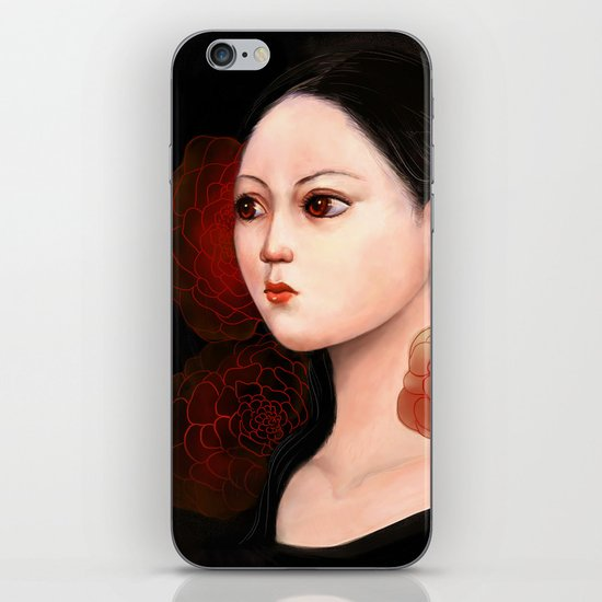 She likes to be alone iPhone & iPod Skin