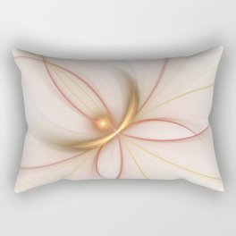 Nobly In Gold And Copper, Fractal Art Rectangular Pillow