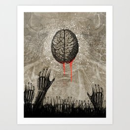 Brains Art Print