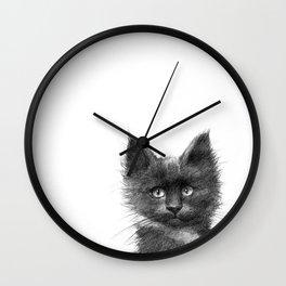 Black Kitten SK135 Wall Clock