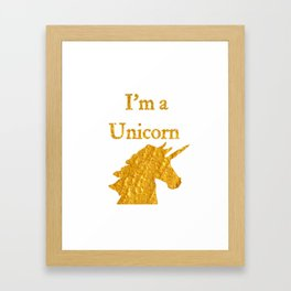I'm a Unicorn Photo 2 in Bold Gold Framed Art Print