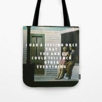 vampire weekend Tote Bags featuring Summer Weekend by Modern Vampires of Art History