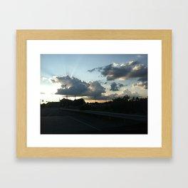 The Setting Sun (#2) Framed Art Print