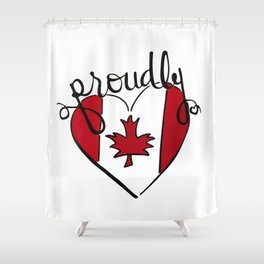 proudly Canadian Shower Curtain