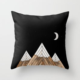 Digital Grain Mountains Throw Pillow