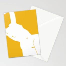 Nude in negative space Stationery Cards