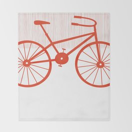 Red Bike by Friztin Throw Blanket
