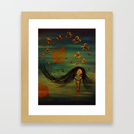 Leaf Lady Framed Art Print