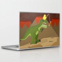 dinosaur Laptop & iPad Skins featuring dinosaur by Nir P